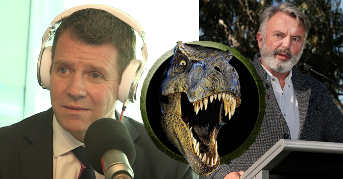 Premier Mike Baird Describes Sam Neill As A Blashphemous Hippy Who Believes In Dinosaurs