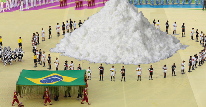 Giant Pile Of Cocaine Steals The Show At #Rio2016 Olympic Opening Ceremony