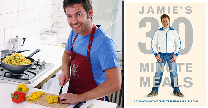 Incompetent man spends two hours cooking one of Jamie Oliver's 30 Minute Meals