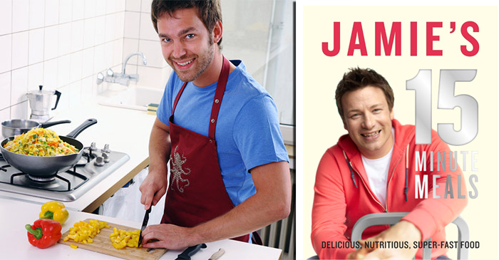 Incompetent man spends two hours cooking one of Jamie Oliver's 15 Minute Meals