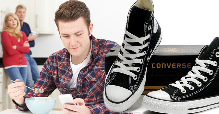Grown man wearing Converse demands to be taken seriously