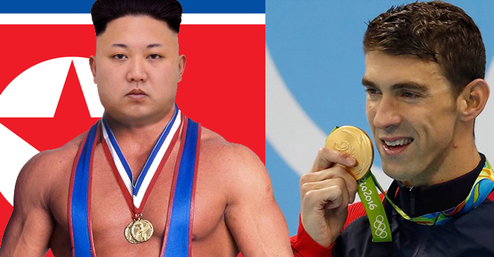 Kim Jong-Un Vows To Win Back Father's Olympic Medal World Record From Michael Phelps