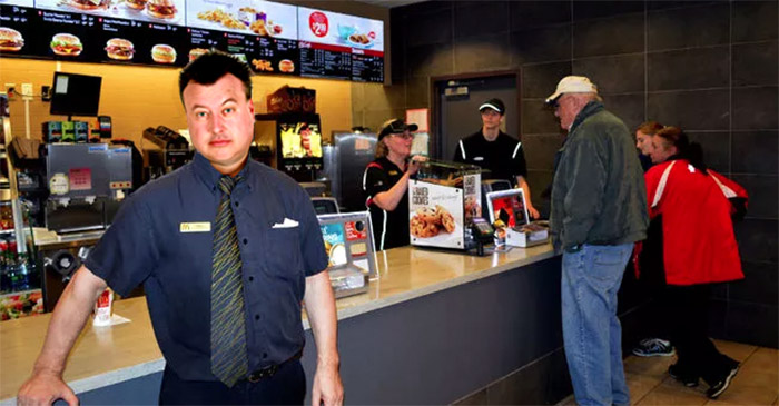 McDonald's Manager Looking Cool As Fuck With New Spikey Gelled Haircut