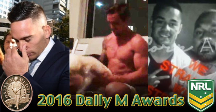 "NRL To Introduce Award For ""Best Handling Of Leaked Video Footage"" At 2016 Dally Ms"