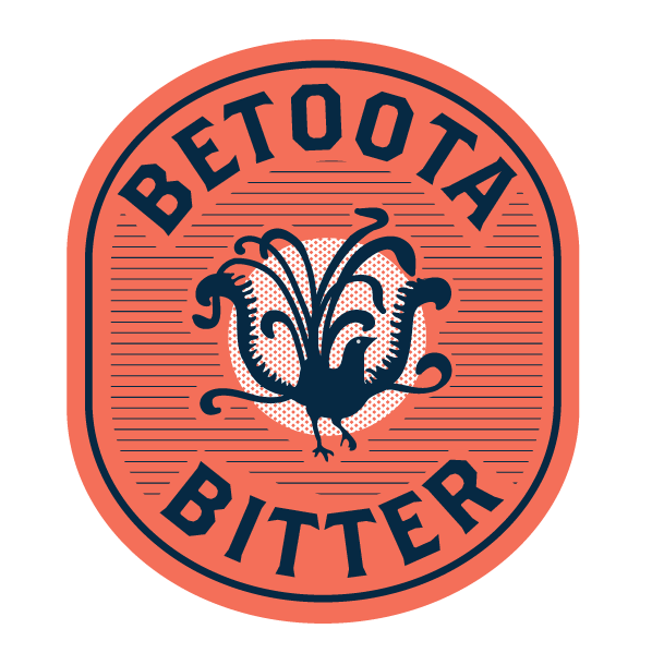 The Betoota Bitter logo. First designed by a resident artist from the city in 1879