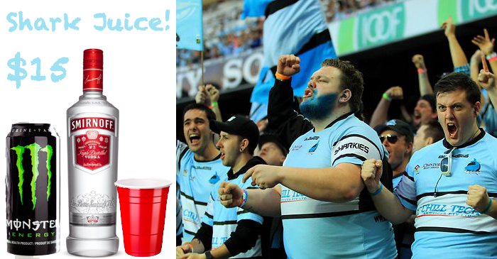 NRL Bows To Pressure From Sharks Fans, Will Serve 'Monster & Vodka' At Grand Final