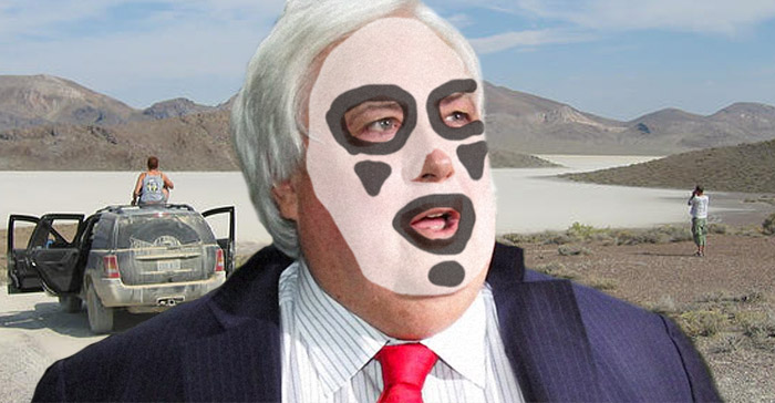 Clive Palmer spotted at Burning Man