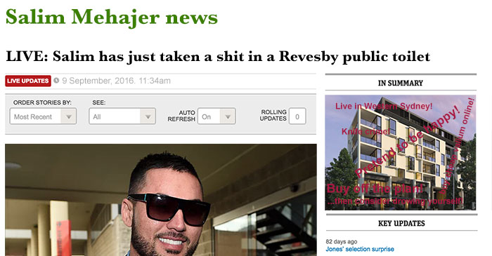Daily Telegraph to replace renowned World News section with Salim Mehajer live blog