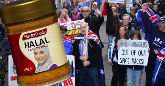 Thousands march in Bendigo to protest new Halal-flavoured seasoning