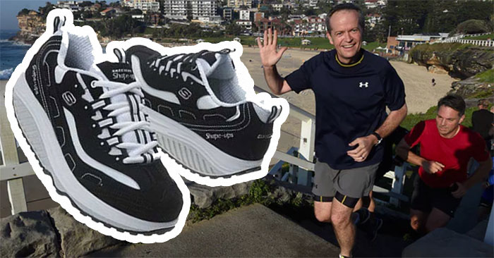 Bill Shorten signs on as Skechers Shape Up! brand ambassador with toned new look