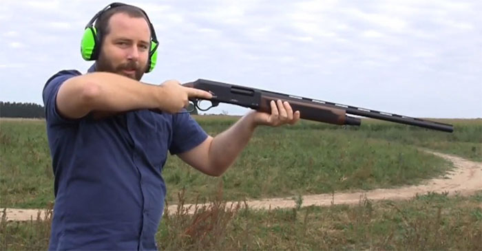 Former Senator Ricky Muir and his gotdam Adler Shotgun. PHOTO: R. Muir/MEP
