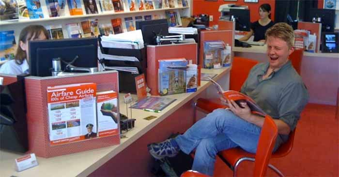 Man Pops Into Local Travel Agent Like It's 1999