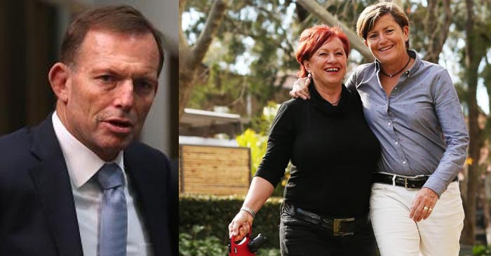 Tony Abbott Shocked That His Sister And Her Housemate Support Gay Marriage