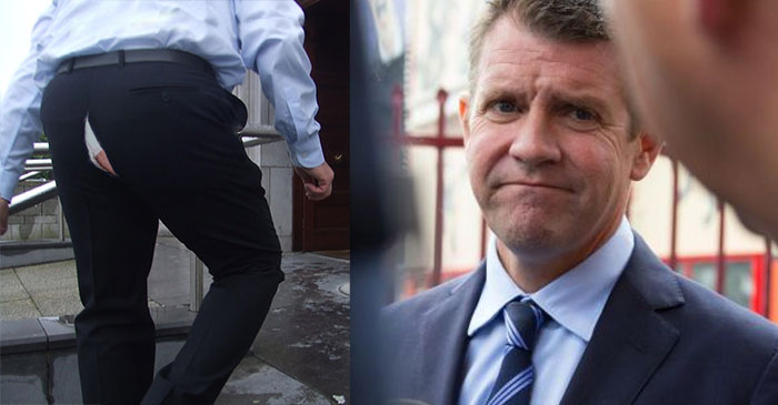 EMBARRASSING! Mike Baird's pants split open after being bent over yet again