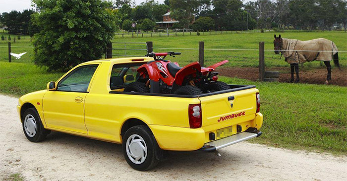 Local Bloke Still Convinced His Proton Jumbuck Is A Real Ute