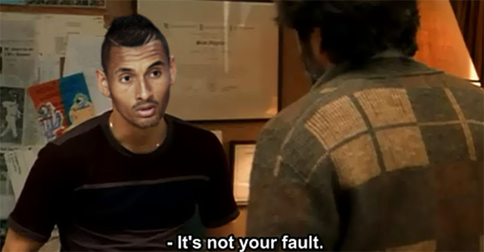 "Nick Kyrgios breaks down in tears after sports psychologist tells him that ""it's not his fault"""