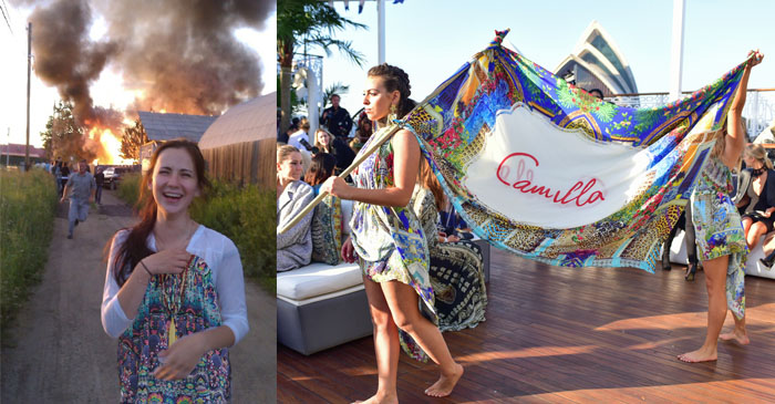 Brisbane woman rushes into burning home to save favourite Camilla dress