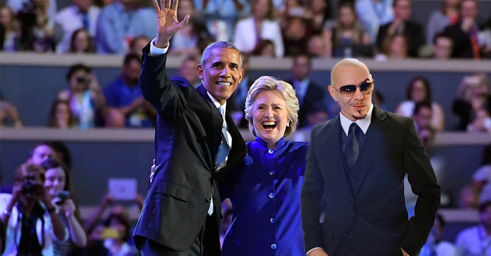 Hillary Clinton's Early Lead Attributed To Official Endorsement From Rapper Pitbull