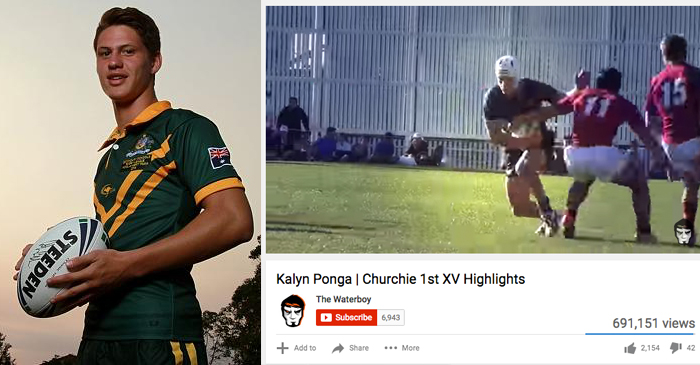 NRL Prodigy Kalyn Ponga Credits Year 10 Highlights Camera Guy For $4m Contract