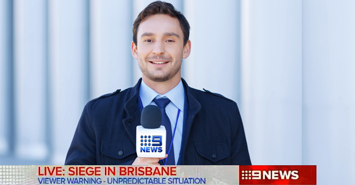 Nine Reporter Experiences Erection As Another Moron Goes Wild With A Gun In Brisbane