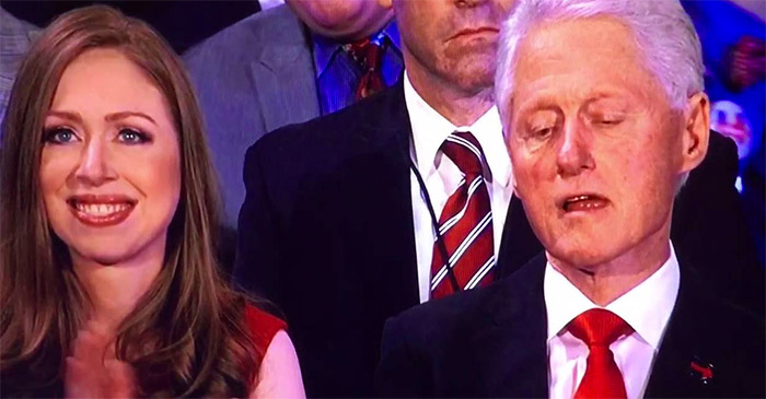 Bill Clinton greens out at 9pm, hours earlier than predicted