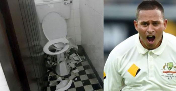 Usman Khawaja says smashed toilet has nothing do with 'bullshit' DRS decision