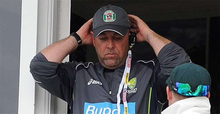 Darren Lehmann currently pulling what's left of his hair out