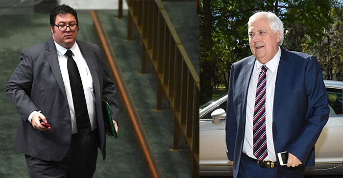 George Christensen to receive Clive Palmer's hand-me-downs after stunning weight loss journey