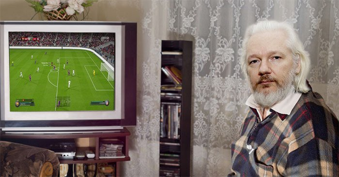 Julian Assange just wants somebody to come over and play FIFA with him