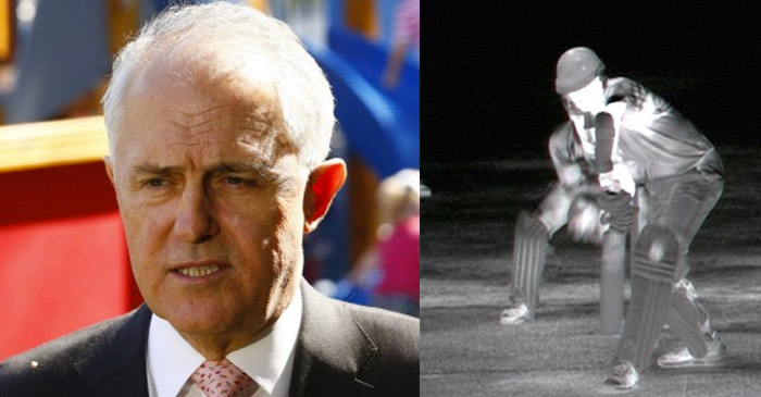 Malcolm Turnbull asks staffer why they film cricket in night vision these days