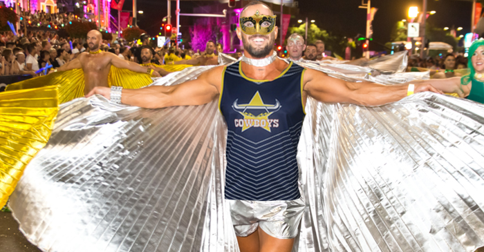 Gay Townsville Man Hoping There's A Pub Playing Cowboys Round 1 During Mardi Gras