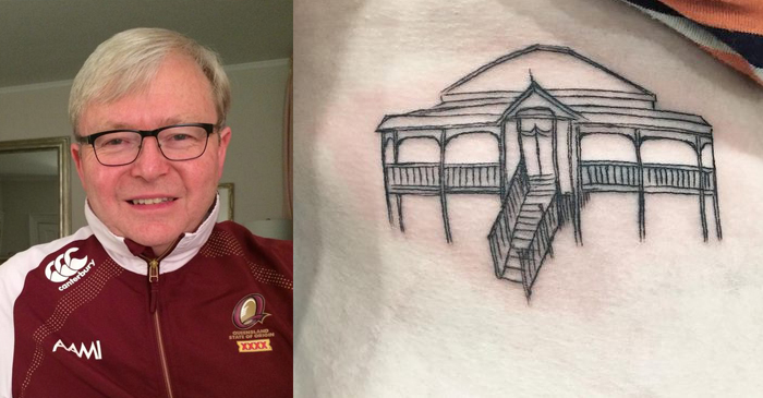 Kevin Rudd Pays Tribute To His Love Of Rugby League With New 'Queenslander' Tattoo