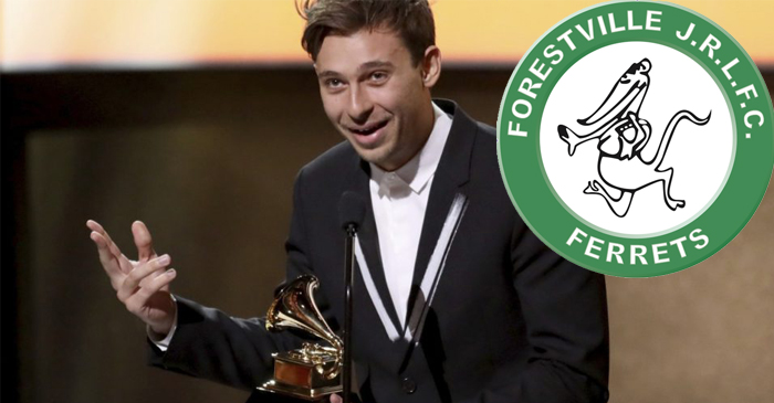 Flume Gives Shout Out To The Forestville Ferrets During Grammy Acceptance Speech