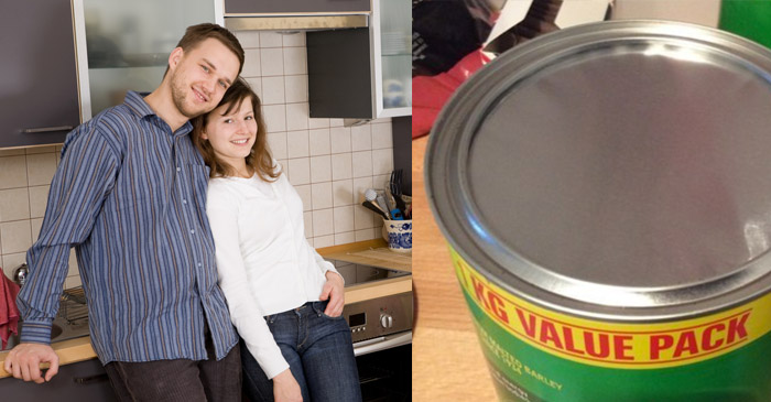 LOVE IS NOT DEAD: Local Romeo Lets His Partner Rip The Foil Off New Milo Tin