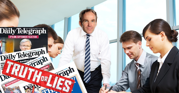 Daily Telegraph reporters reminded that 'fact-checking' is also part of job role
