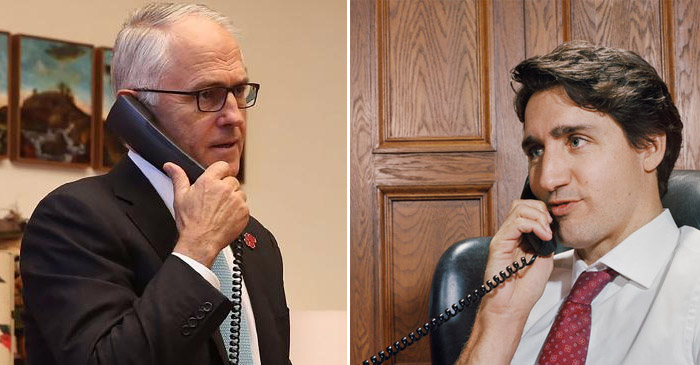 Turnbull gets some pointers on how to deal with Trump from polite Canadian