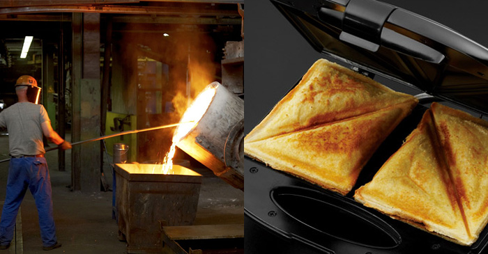 CSIRO conclude toasted sandwich filling can melt steel beams