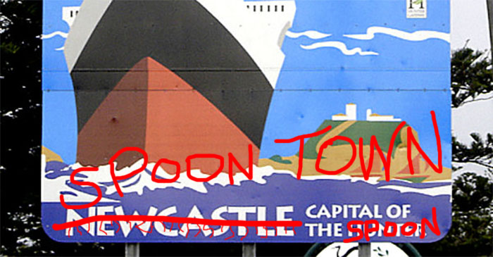 Mayor of Newcastle asks tourists to stop referring to it as 'Spoon Town'