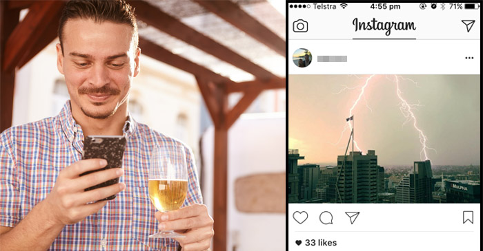 Bout of extreme weather featured heavily on local bloke's Instagram feed