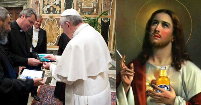 Pope takes to Twitter to announce Jesus prefers Light Ice