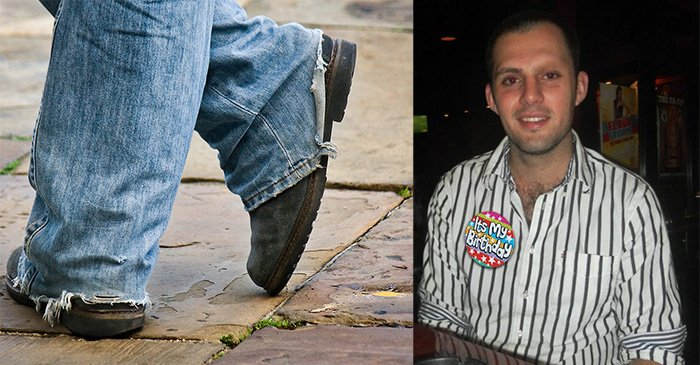 Polite Country Gentleman Walks The Heel Out Of Another Pair Of Jeans