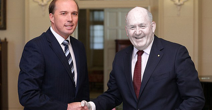 Governor-General Turns Sickly Grey During Handshake With Offshore Dementor