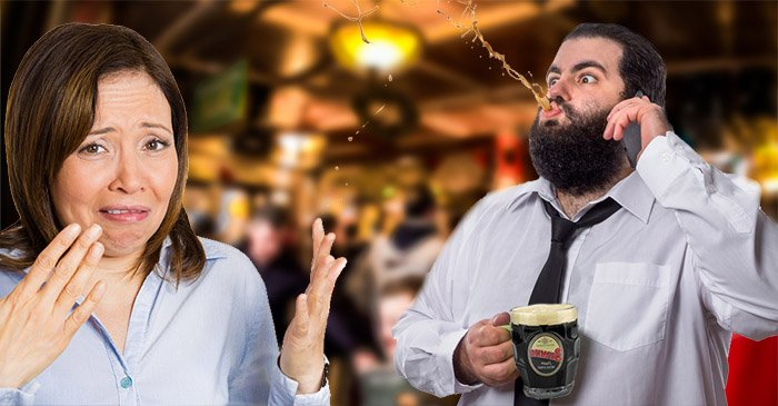 Moree man performs ancient courtship display of spitting rum on potential mate