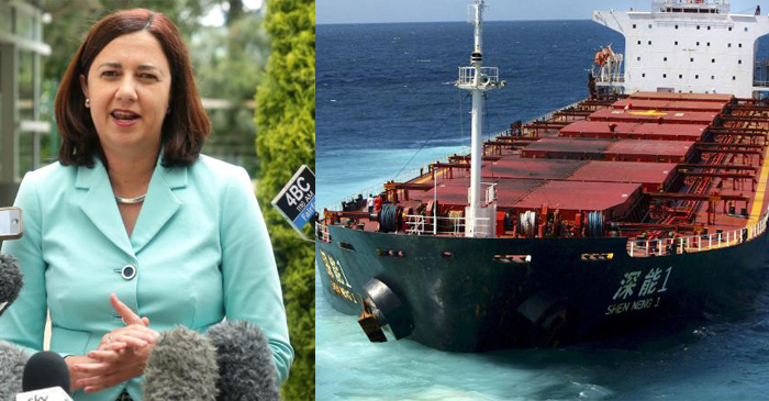 Excited QLD Premier Reveals Reef Nearly Dead Enough For Coal Ships To Crush Through