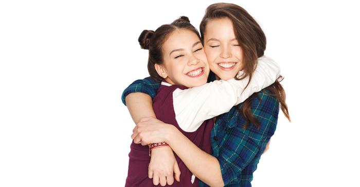 Contrived Hug Between Popular Teenage Girls Enters 5th Minute