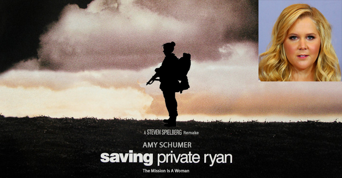 Amy Schumer Confirmed As Lead Star In All-Female Remake Of 'Saving Private Ryan'