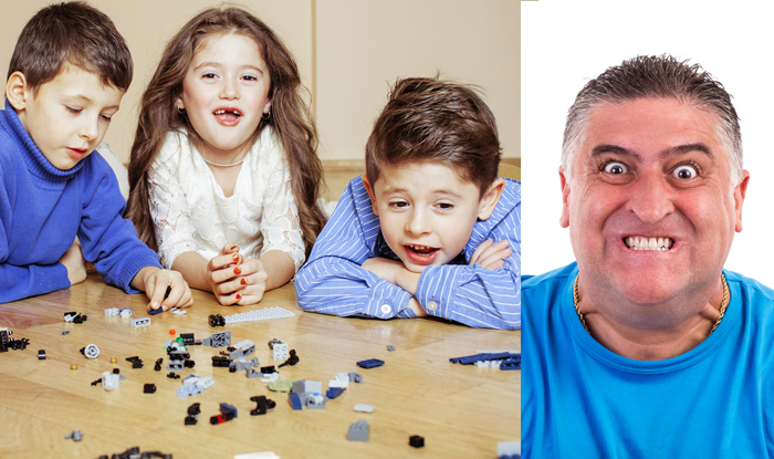 Kids Learn New Grown Up Words After Daddy Steps On Lego Barefoot