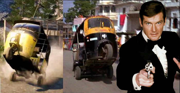 India's Tuk-Tuk Drivers Bust Out The Wheelies In Memory Of The Late Roger Moore