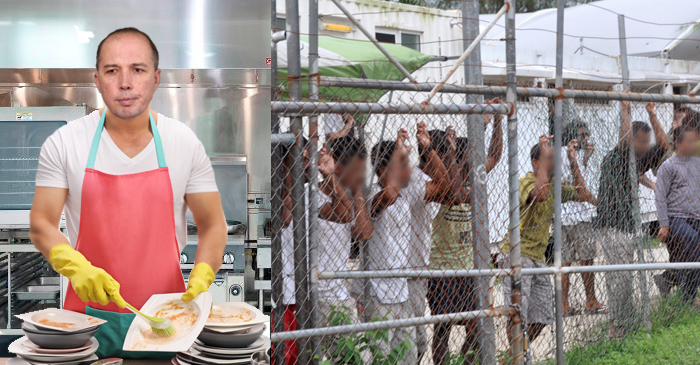 Dutton Made To Clean Dishes In Parliament Kitchen To Make Up For $70M Manus Payout