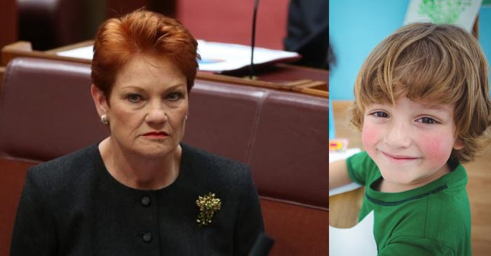 Pauline Almost Out Of Minorities To Rip On After Giving It To Those Pesky Autistic Kids